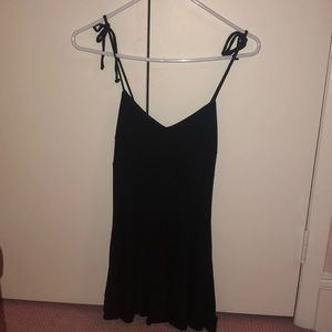 Black tie strap dress